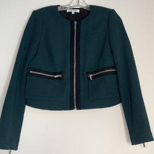 Elizabeth & James cropped zip up blazer